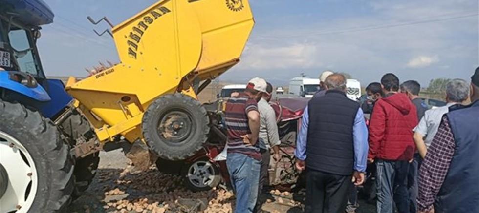 Tomarza'da trafik kazası: 1 yaralı