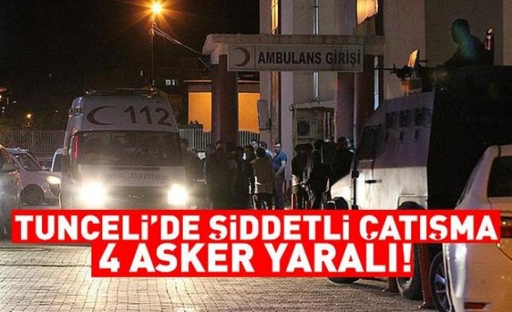 Tunceli'de çatışmada 4 asker yaralandı