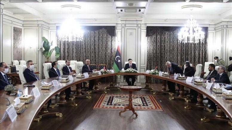 Türk heyeti Libya'da Serrac ile görüştü