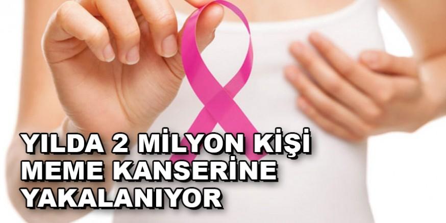 Yılda 2 milyon kişi meme kanserine yakalanıyor