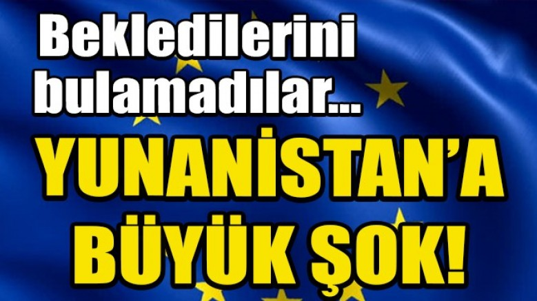 Yunan-Rum ikilisi AB' den destek bulamadı