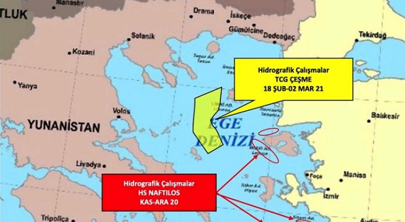 Yunanistan Türkiye'nin NAVTEX ilanından sonra Ege'de gerginliği tırmandırıyor